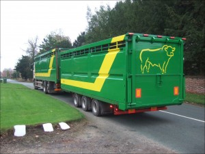 Plowman Single Deck on trailer