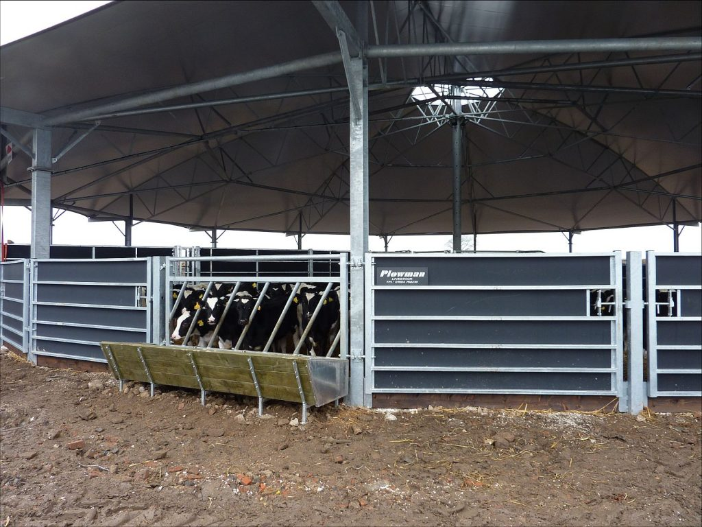 Feed barrier, gates and troughs